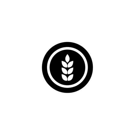 Wheat logo template vector icon illustration