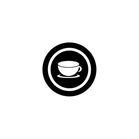 Coffee cup logo template vector icon design Illusztráció