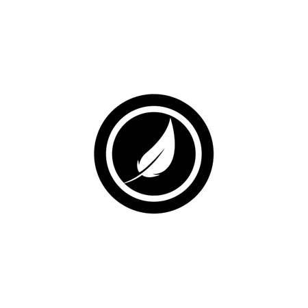 Feather logo template vector icon design