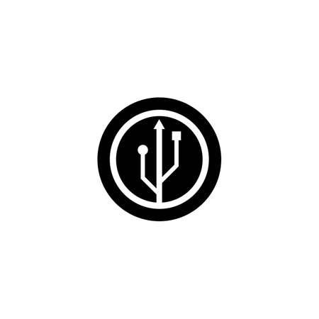 USB logo template vector illustration