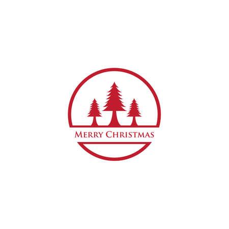Christmas logo template vector icon design  イラスト・ベクター素材