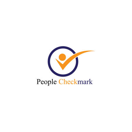 People check mark Logo Template vector icon illustration