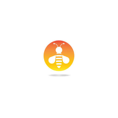 Bee logo template vector icon design
