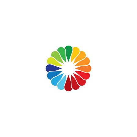 Flower logo vector icon design