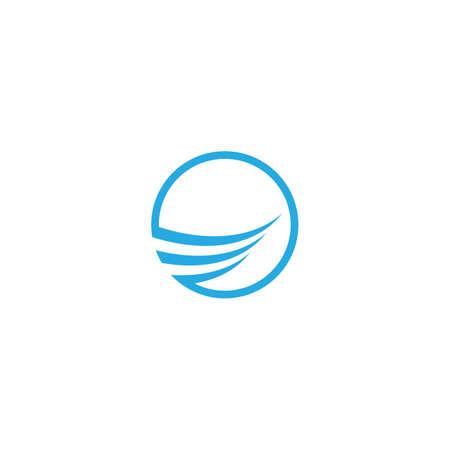 Wing logo template vector icon design Vettoriali