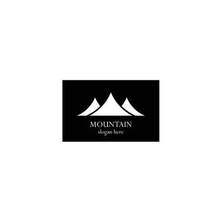 Mountain logo template icon design