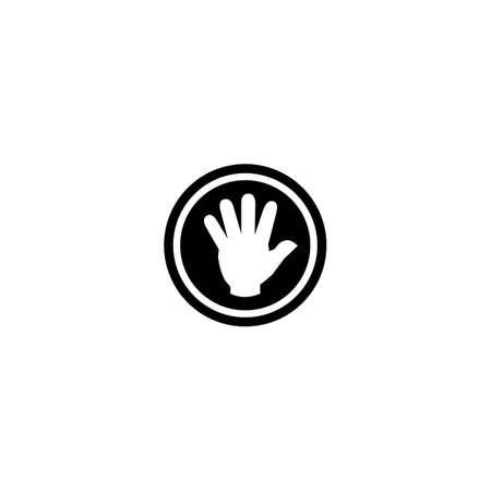 Hand logo vector icon design