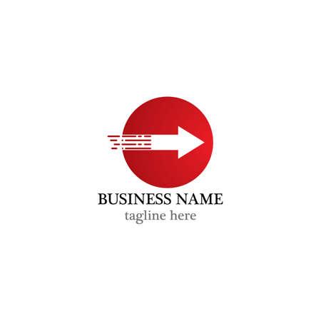Arrows vector illustration icon logo template design Ilustrace