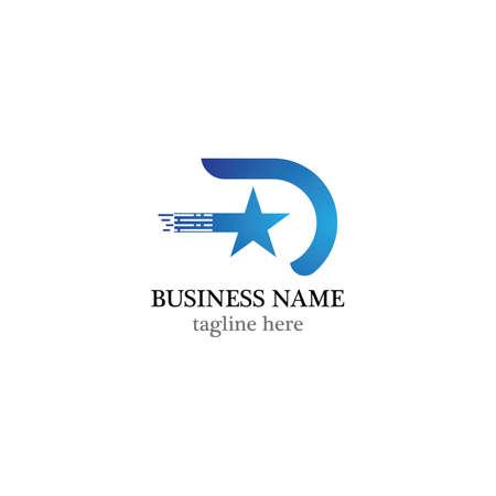 Star logo vector icon design Ilustrace