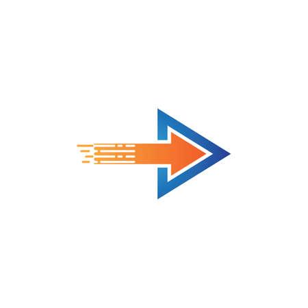Arrows vector illustration icon logo template design Vettoriali