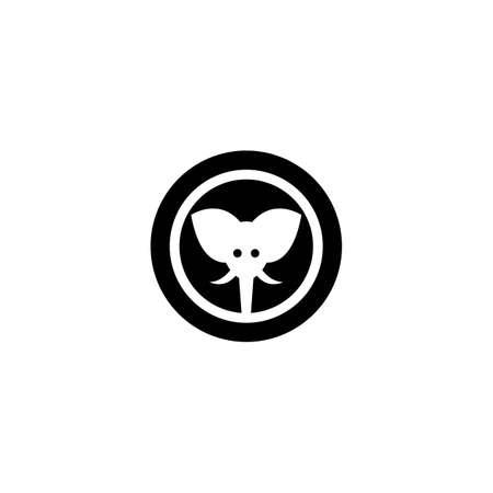 Elephant logo template vector icon design