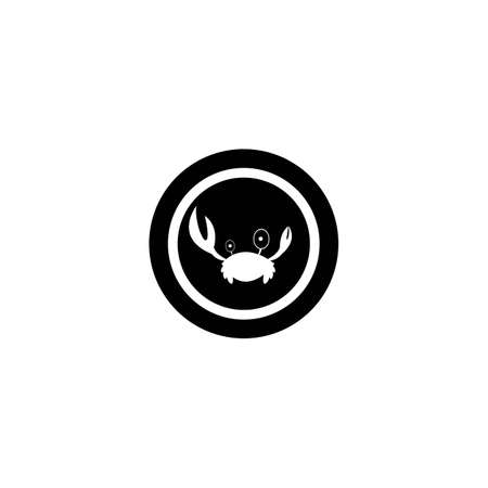 Crab logo template vector icon design