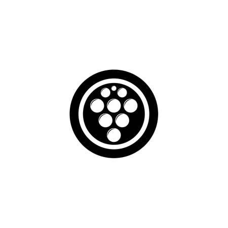 Grape vector illustration logo template icon