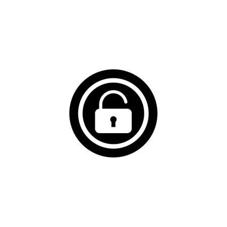 Security logo template vector icon design