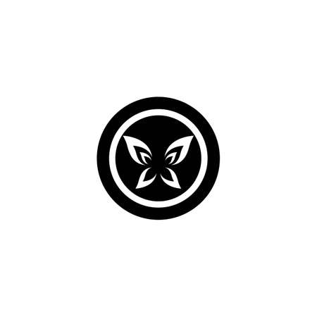 Butterfly logo template vector icon design Vettoriali