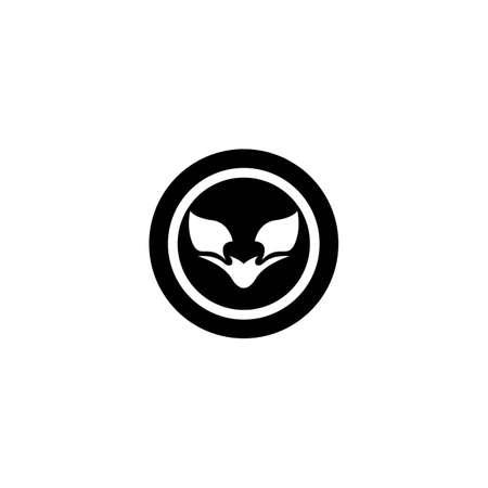 Fox logo template vector icon design Ilustrace