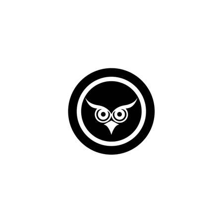 Owl logo template vector icon design Ilustrace