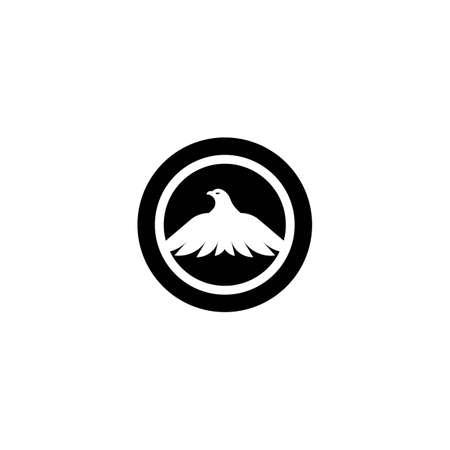 Eagle logo template vector icon design Vettoriali