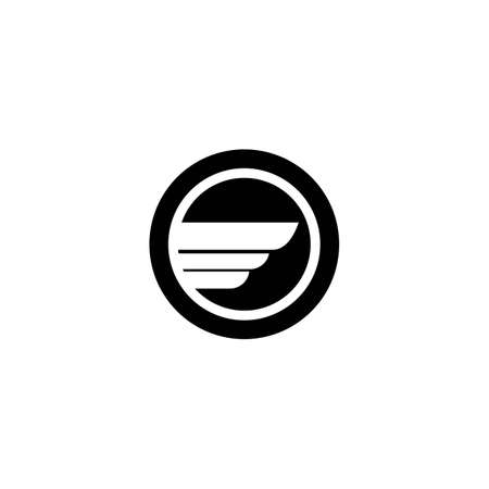 Wing logo template vector icon design Ilustrace