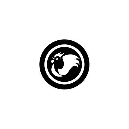 Rooster logo template icon design Vettoriali