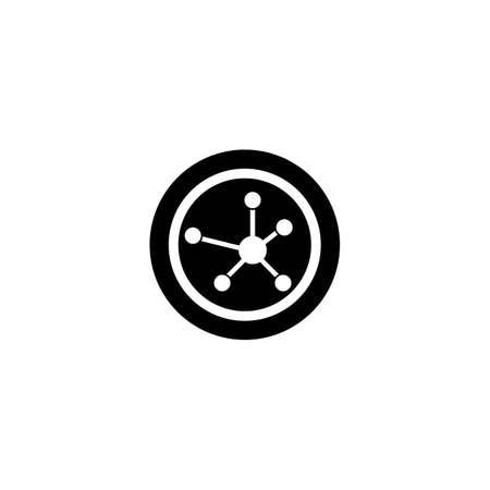 molecule logo template icon design Vettoriali