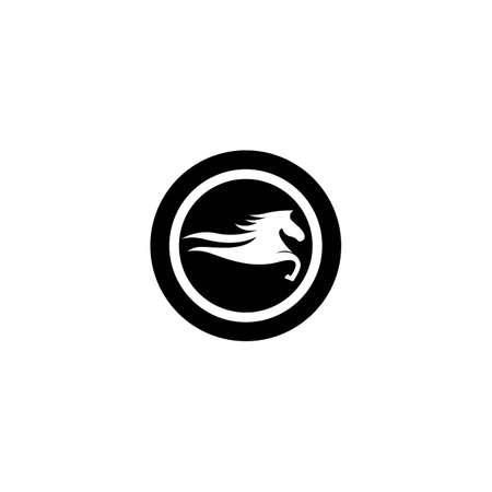 Horse logo template Vector icon design Ilustrace