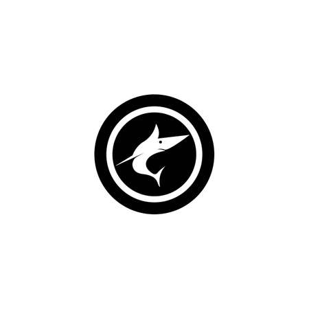 Fish logo template creative vector symbol of fishing club or online