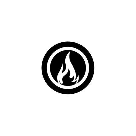 Flame logo template vector icon design Vettoriali