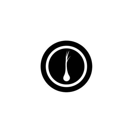 Hair logo template vector icon design