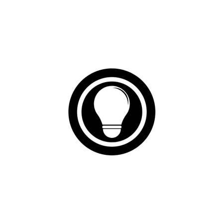 Lamp logo template icon design Vettoriali