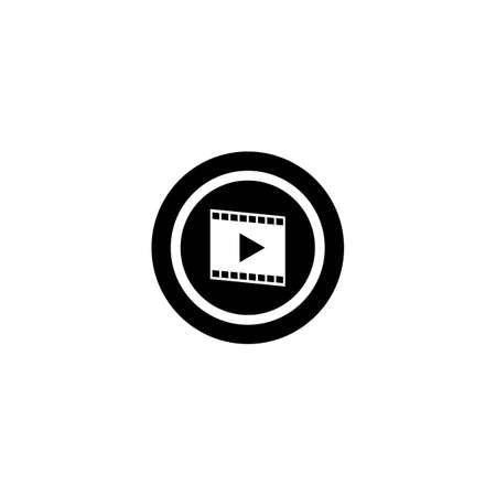 Video logo template vector icon design Ilustrace