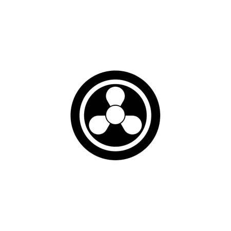 fan logo template vector icon
