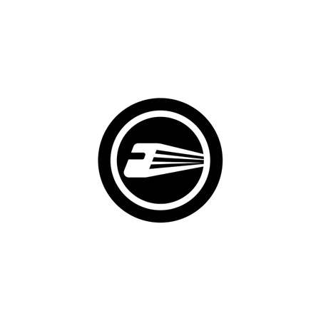 Train logo template vector icon design