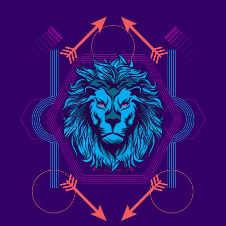 Blue Lion Sacred Geometry