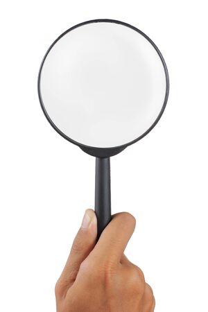 bucle: vidrio de Ampliador esper� por la mano del hombre