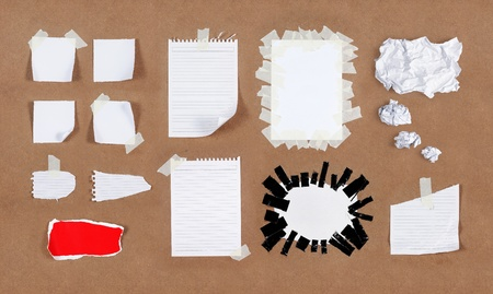 memo pad: Many kind of different type of papers