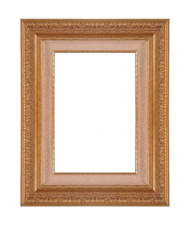 Gold frame with a decorative pattern photo