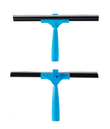 squeegee: blue wiper for cleaning window