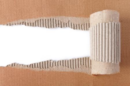 papier brun ondulé texture déchiré