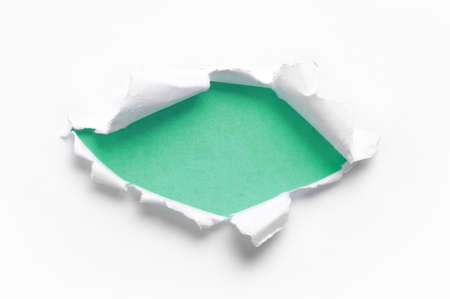 ripped white paper against a blue backgrounds Stock Photo - 9603566