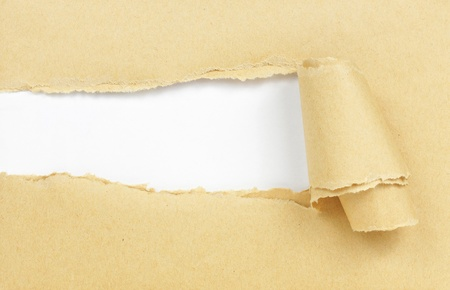 gescheurd papier: bruine papieren met kopiëren ruimte voor tekst