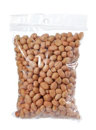 plastic texture: a bunch of peanuts in plastic bag