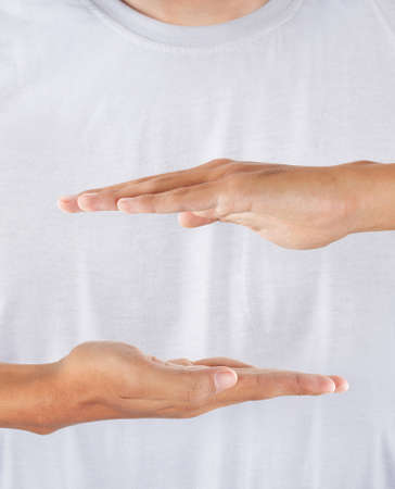 gesture of hand Holding something photo