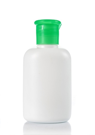 white bottle with green cap for new design photo