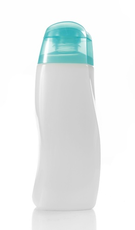 shampoo bottle: white unique beauty product packaging