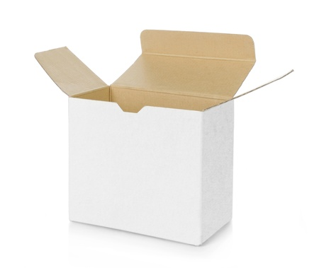 blank box: empty opened brown cardboard box