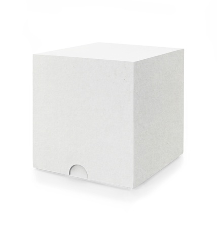 a white box isolated on white background photo