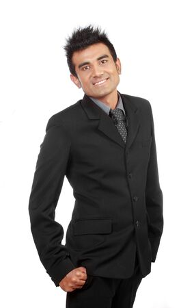 portait of young happy businessman photo