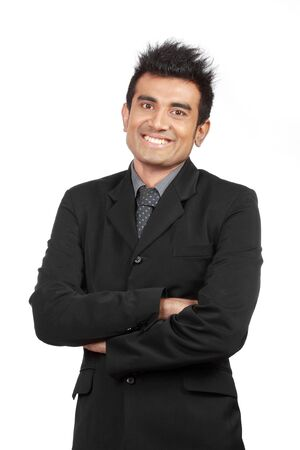 portrait of young businessman smiling  photo