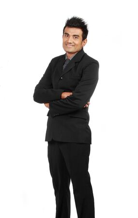 young businessman portrait isolated over white background Stock Photo - 10329046